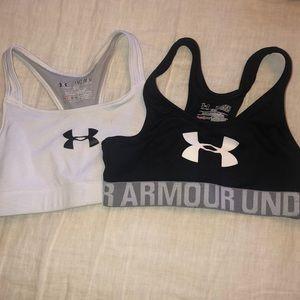 Bundle of 2 Under Armour sports bras